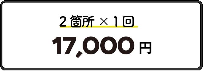 2箇所1回17,000円
