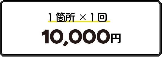 1箇所1回10,000円