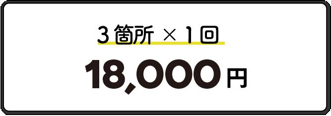 3箇所1回18,000円