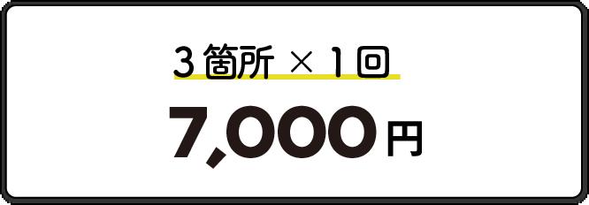 3箇所1回7000円