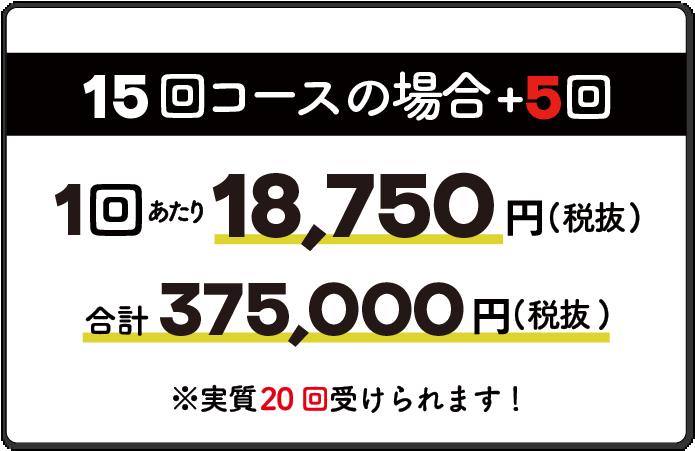 15回コースの場合1回18,750円
